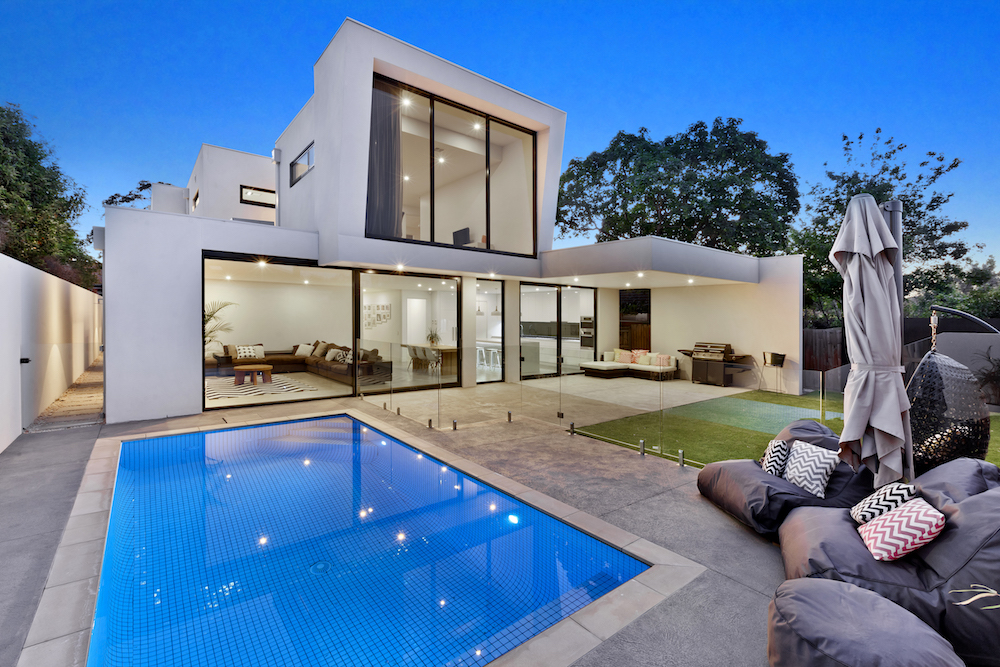 New Home Laux Building Designs Swimming Pool